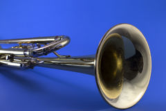 Trumpet Bell. A different angle of a trumpet bell stock photo