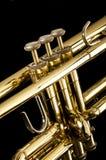 Trumpet on Black Stock Image