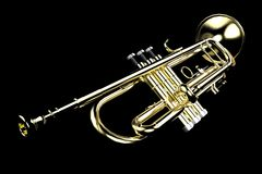Trumpet  On Black Stock Photography