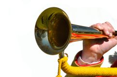 Trumpet Blowing Royalty Free Stock Photography