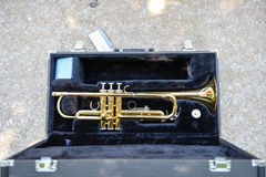 Trumpet in a Carrying Case Stock Photography