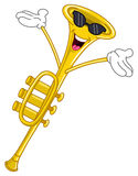 Trumpet cartoon Royalty Free Stock Image