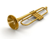Trumpet (clipping path included) Stock Images