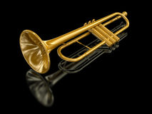 Trumpet (clipping path included) Royalty Free Stock Photography