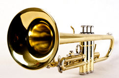 Trumpet close stock image