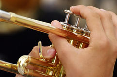 Trumpet - detail Stock Photos