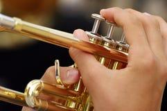 Trumpet - detail Stock Photos