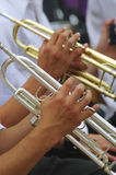 Trumpet - detail Royalty Free Stock Images