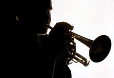 trumpet för 06 spelare Royaltyfria Bilder