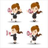 Trumpet för show för affärskvinna royaltyfri illustrationer