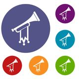 Trumpet with flag icons set Stock Photography