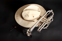 Trumpet And Hat Royalty Free Stock Photos