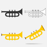 Trumpet icon Royalty Free Stock Image