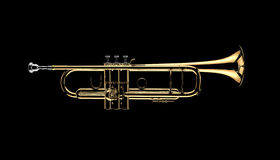 Trumpet. Image is posed on dark background Royalty Free Stock Photo