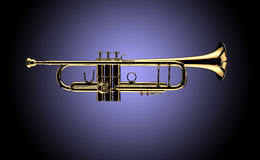 Trumpet. Image is posed on dark background Stock Photo