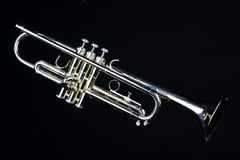 Trumpet Isolated On Black Royalty Free Stock Images
