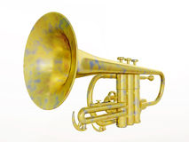 Trumpet isolated on white background Royalty Free Stock Photos