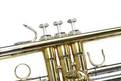 Trumpet isolated on a white Stock Photography