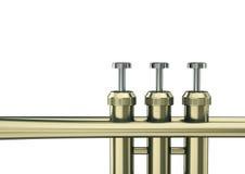 Trumpet keys Stock Photo