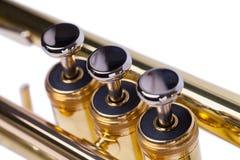Trumpet Keys Close Up stock photos