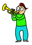 Trumpet kid Stock Images