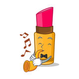 With trumpet lipstick character cartoon style Royalty Free Stock Image