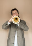 Trumpet man Stock Photography