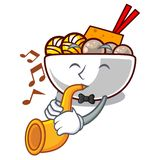 With trumpet meatball isolated with in the character. Vector illustration stock illustration