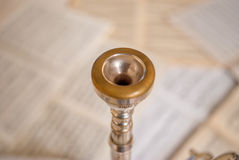 Trumpet mouthpiece Royalty Free Stock Photography