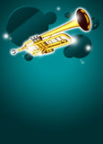 Trumpet music background Stock Photos