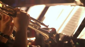 Trumpet music concert band stock video footage