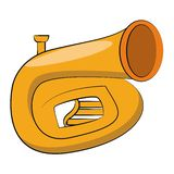 Trumpet music instrument. Isolated vector illustration graphic design vector illustration