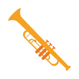 Trumpet musician instrument icon Stock Images