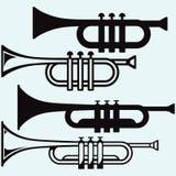 Trumpet musikinstrument Arkivfoto