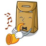 With trumpet paper bag in the cartoon shape. Vector illustration vector illustration