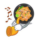 With trumpet pat thai in the cartoon shape. Vector illustration royalty free illustration