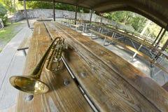 Trumpet Picnic Fisheye Stock Photo