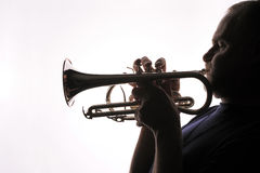 Trumpet player 01 Stock Photography