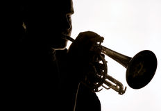 Trumpet player 06 Royalty Free Stock Images