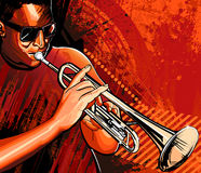 Trumpet player. Vector illustration of a trumpet player royalty free illustration