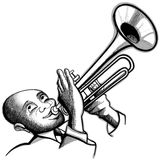 Trumpet player. Illustration of a trumpet player vector illustration