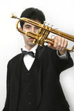 Trumpet player Royalty Free Stock Image
