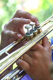 Trumpet player Royalty Free Stock Photos