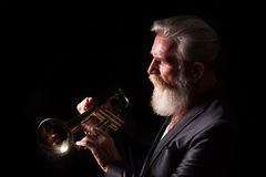 Trumpet Player Stock Photography