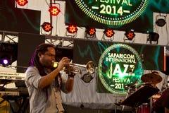 Trumpet player at a Richard Bona Concert Royalty Free Stock Image