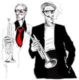 Trumpet players Stock Photos