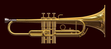 Trumpet in profile Royalty Free Stock Photos
