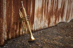 Trumpet Rusty Fence Royalty Free Stock Photo