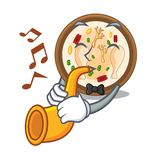 With trumpet samgyetang in the a character shape. Vector illustration vector illustration
