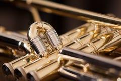 Trumpet segment closeup Stock Photography